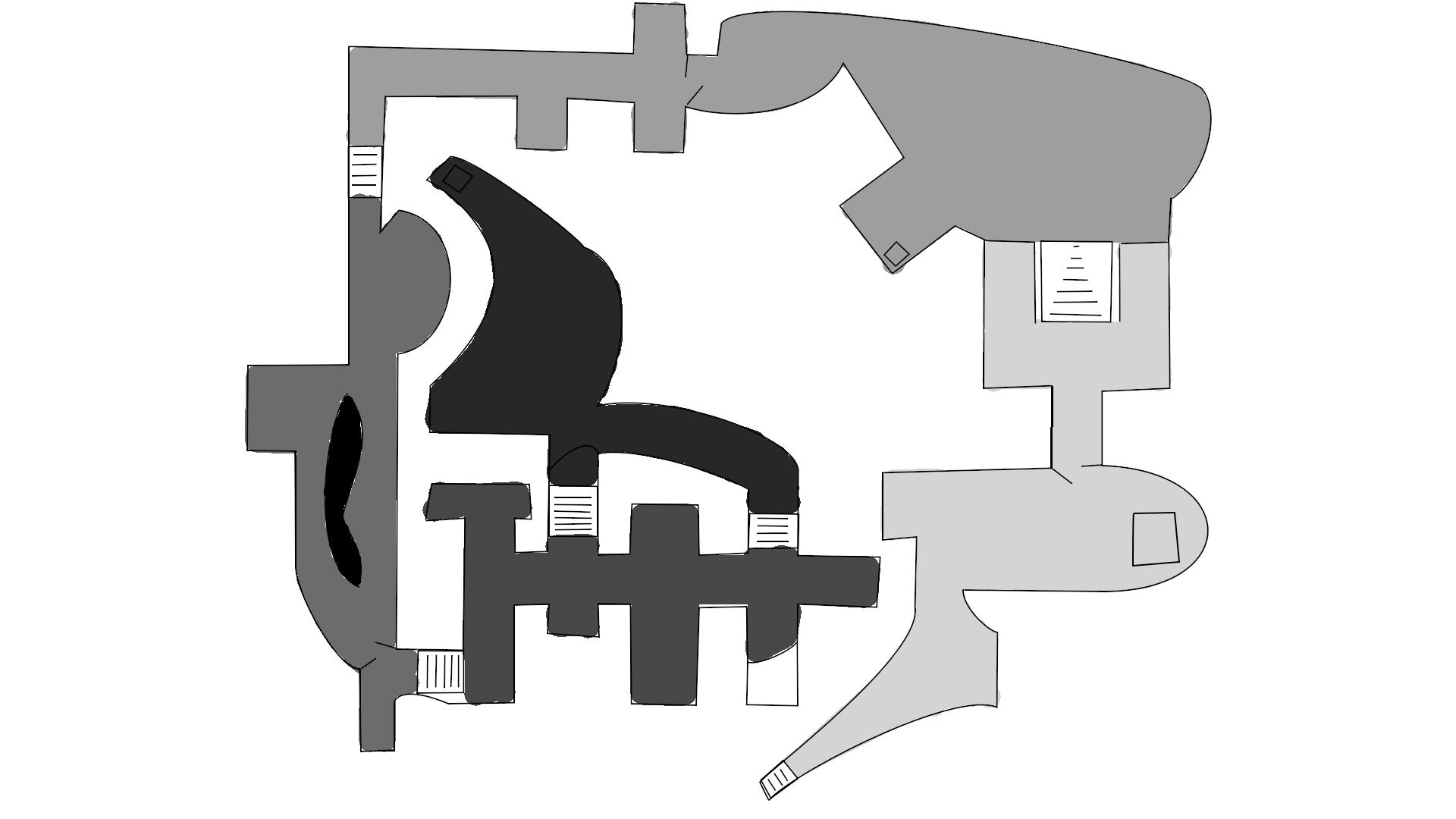 Underground Tomb Level 2D Map