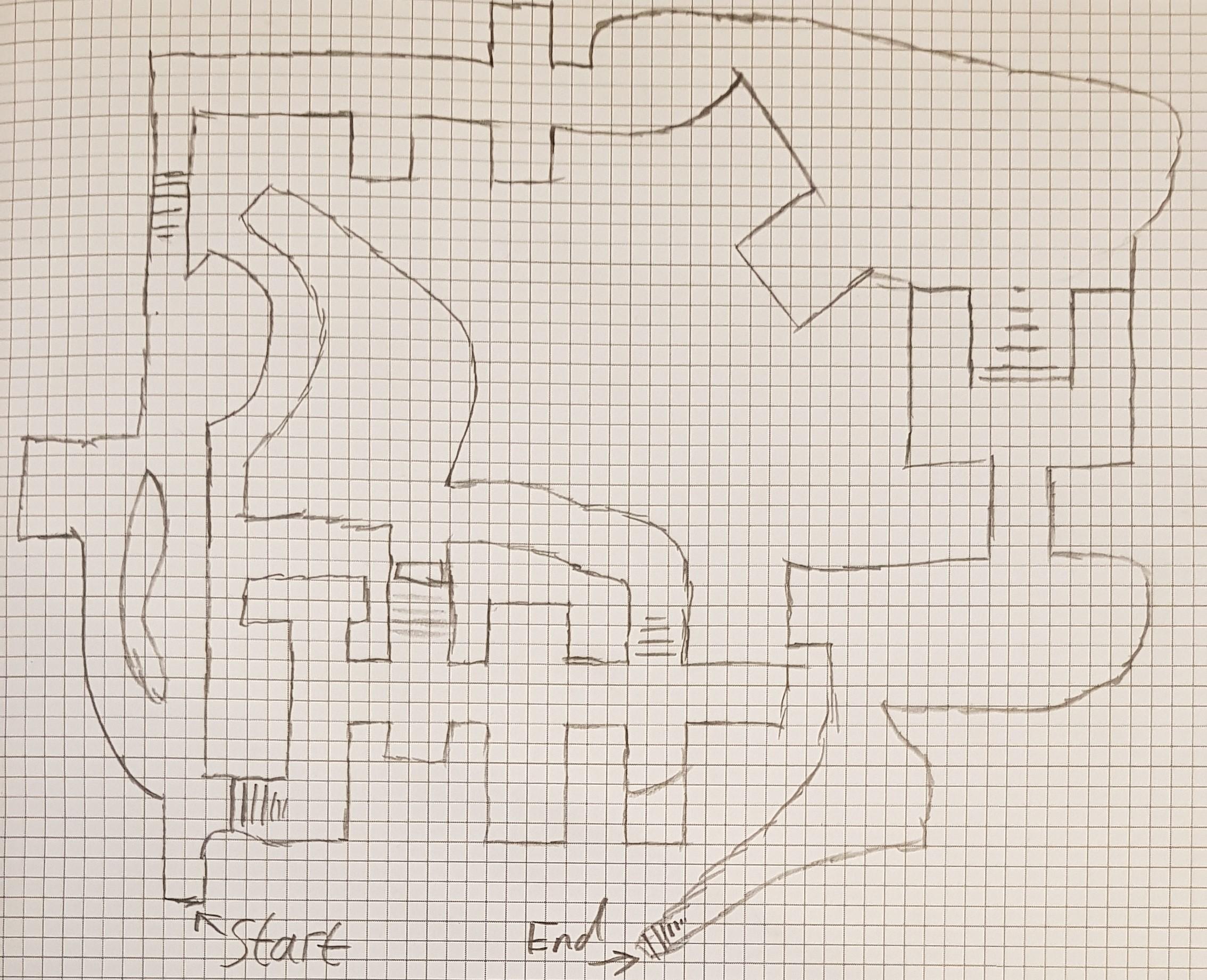 Underground Tomb Level Sketch